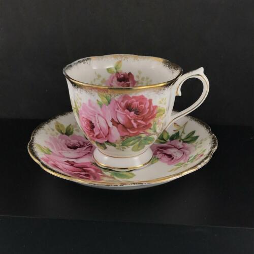 Royal Albert American Beauty Pink Rose Teacup & Saucer Bone China