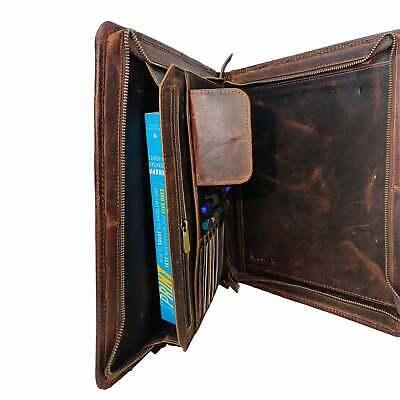 Buffalo Leather Portfolio Document Folder Case Brown Large Folder Portfolio 34cm