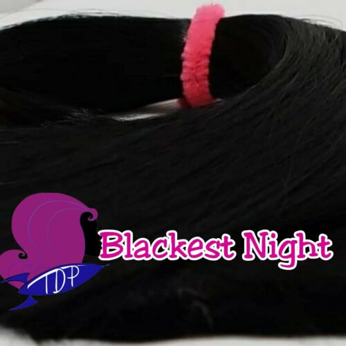 Blackest Night Black Nylon Doll Hair Hank for Rerooting for Barbie®