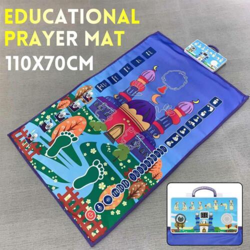 Kids Learning Salah Mat - Educational Mat - Various Languages  (3 days Shipping)
