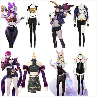 League of Legends LOL Evelynn Akali Kaisa Ahri New Skin KDA Cosplay Kostüm Suit