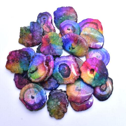 1399 Cts Natural Window Druzy Quartz Excellent Quality Bio Solar Gemstones~26 Pc