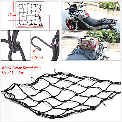 Motorbike Electric Bike Helmet Sundries Cargo Fixed Storage Resilient 6 Hook Net
