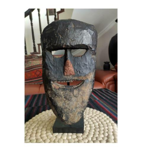 Authentic Real Himalayan wooden Primitive Mask Collective art from Nepal M2