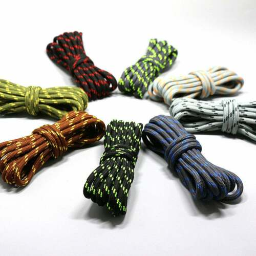 THIN ROUND COLORFUL SHOELACES LACES SNEAKERS BOOT HIKING WORK BUY 2 GET 1 FREE