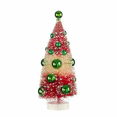 CLEARANCE - Sisal Bottle brush Tree: Red/White, 3.75 x 10 inches - pretty!! ()