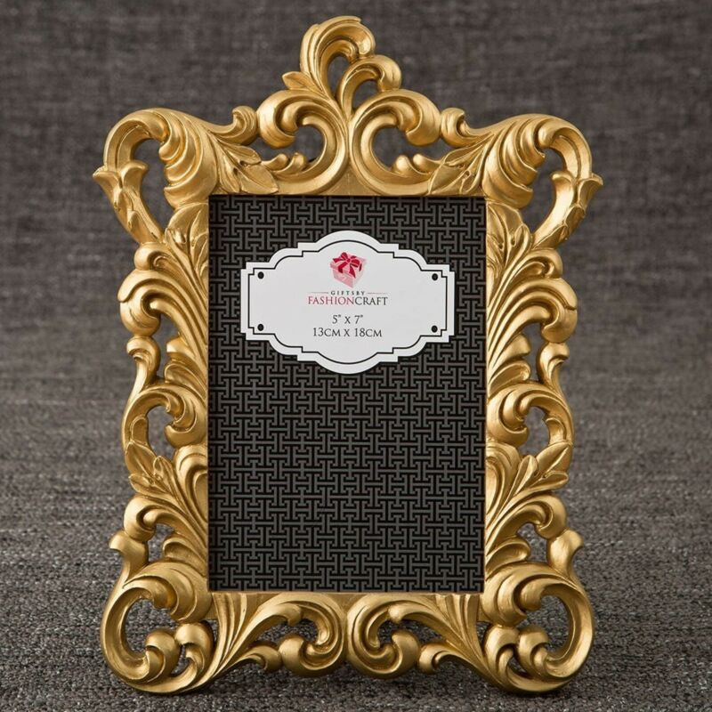 Gold Baroque Frame 5x7 Photo Picture Frame (set of 5)