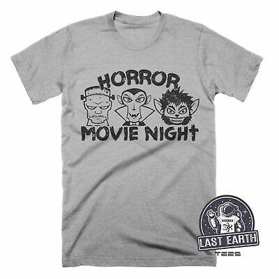 Horror Movie Night, Funny Halloween Shirts, Punk Tees, Mens, Womens, Kids Tshirt