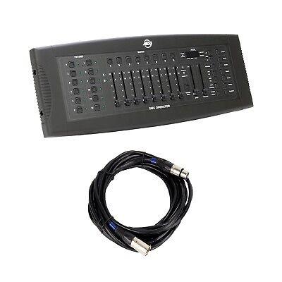American DJ DMX Lighting Operator Controller Board and Chauvet 25 Foot DMX Cable