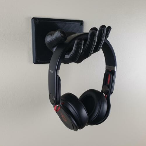 Headphone Stand Wall Mount Hand Headset Holder Sculpture Display Storage Xbox PS