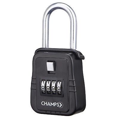 4 Dial Metal Lock Box Key Safe Vault Door Hanger For Realtor Real Estate