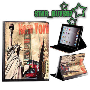 NEW RETRO QUIRKY DESIGN COVER CASE FLIP / 360 DEGREE FOR APPLE IPAD 2 IPAD 3 V3