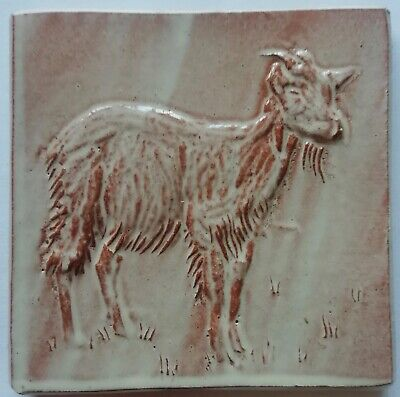 Goat Tile -  Goat tile handmade, low relief,  by Helen Baron