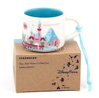NEW Disney Parks Starbucks DISNEYLAND California You Are Here Mug ORNAMENT Cup