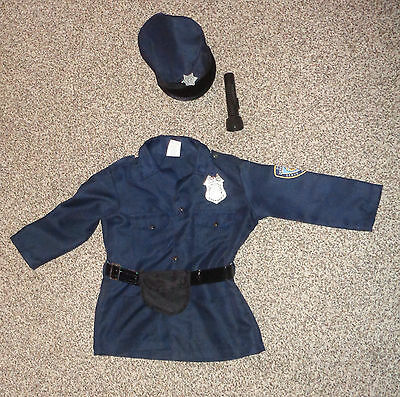 Imaginarium Boys Police Jacket Hat Flashlight Halloween Costume Size 3-6 Years