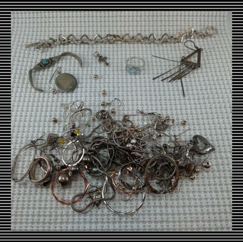 128 Grams LOT STERLING SILVER 925 JEWELRY  WEARABLE OR SCRAP Tiffany & Co