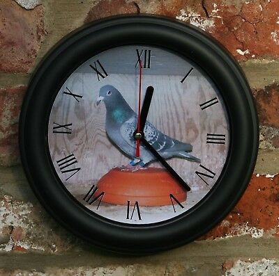 RACING PIGEON WALL CLOCK, 21CM GIFT IDEA