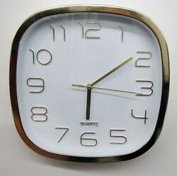 GOLD COLOR SQUARE  QUARTZ KITCHEN WALL CLOCK 9.5 -  ITEM NO SC -ICLI70181