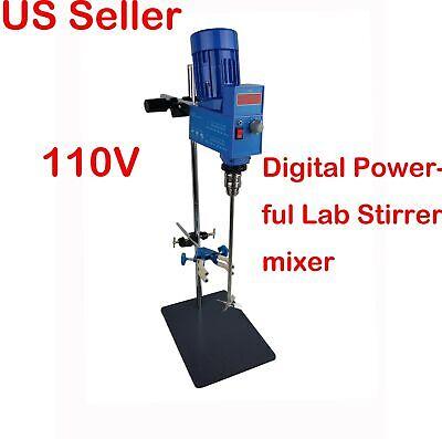 New 110v Digital Powerful Lab Stirrer Mixer 2000rpm 20l 10000mpas