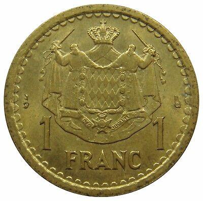 (G12) - Monaco - 1 Franc 1945 - Louis II - AU - KM# 120a