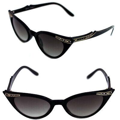 Cat Eye Sonnenbrille schwarz Rockabilly 310