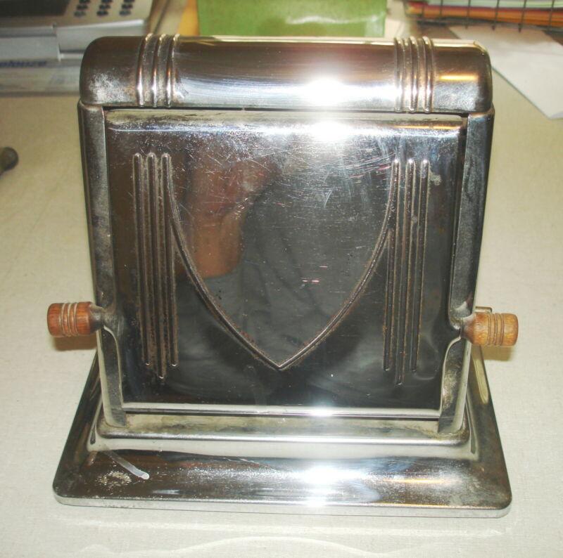 Antique Vintage ELECTRIC TOASTER - SUPER STAR Chrome Flip Side New York NY