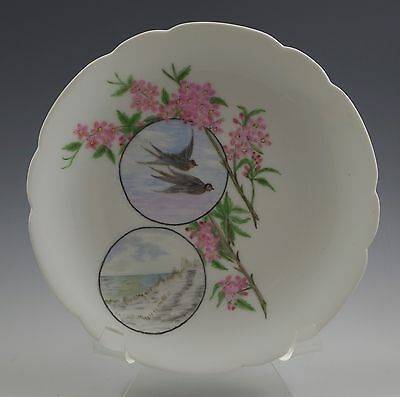 Antique Floral Pink and Gold Scalloped Limoges Haviland GFA CFH Plate