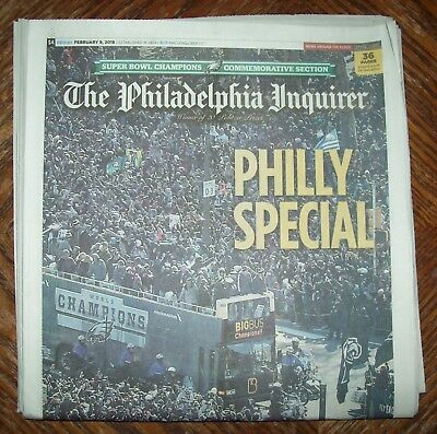 Historical Win Philadelphia Eagles Super Bowl Parade newspaper 2/9/18 Inquirer