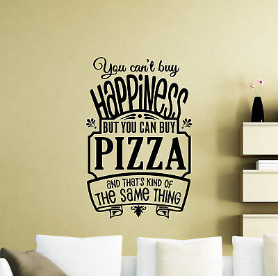 Pizza Wall Decal Poster Quote Kitchen Cafe Vinyl Sticker Pizzeria Decor Art 46me - Pizzeria Decor