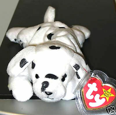 Ty Beanie Baby ~ SPARKY the Dalmatian Dog ~ MINT with MINT TAGS ~ RETIRED