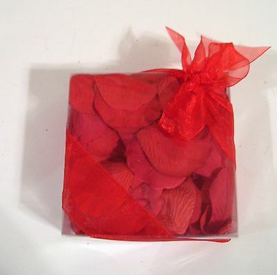 BOX OF RED ROSE FLOWER PETALS VALENTINES DAY WEDDINGS -
