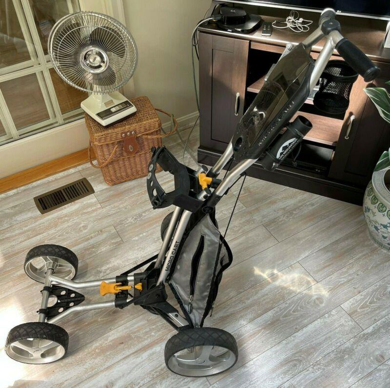 Sun Mountain Micro Cart 3-Wheel Collapsible Golf Cart w/Cup andUmbrella Holder