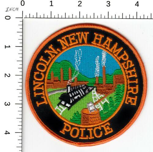 LINCOLN NEW HAMPSHIRE NH POLICE PATCH (TRAIN SCENE)