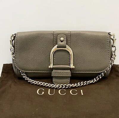 Gucci Greenwich Clutch Bag Chain Leather Evening Shoulder Handbag