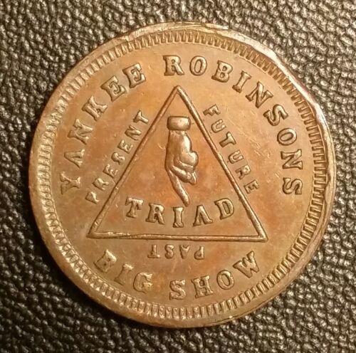 Yankee Robinson Entertainer Peoria, IL 1863 Store Card IL-692-A-9a (R-4)