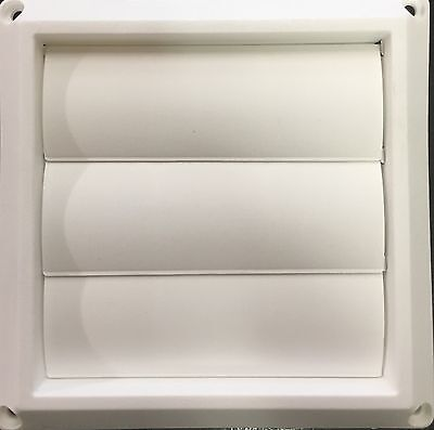 "4"" White Vinyl Dryer Vent Cover"