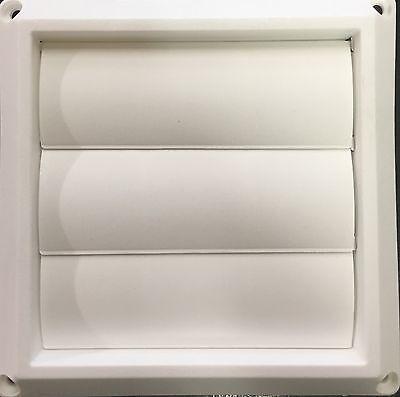 """Dryer 4"""" White Vinyl Vent Cover"""