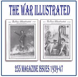 The War Illustrated ☆☆ World War 2 WW2 ☆☆ COMPLETE SET ☆ 255 Magazines on DVD L7