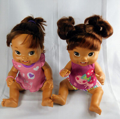 Used, 2 Baby Alive 2010 First Teeth Hispanic Dolls w Baby Alive Clothes for sale  Tonopah