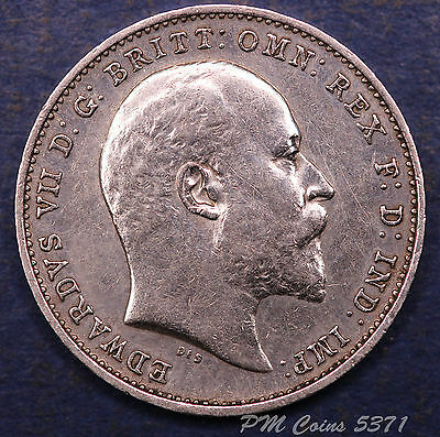 1907 Edward VII KEDVII Silver 925 SUPERB Threepence 3d coins *[5371]