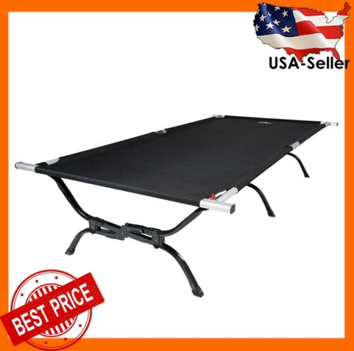 TETON Sports 120A Outfitter XXL Camping Cot w/ Pivot Arm for Adults, Storage Bag
