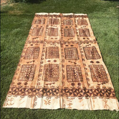 Vintage Large Tapa Cloth Polynesia South Pacific 12