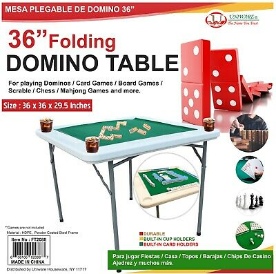 Folding Domino Games Table And For Other Table Games With 4 Cups Drink Holder