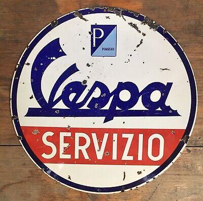 Vespa Piaggio Scooter Servicio Service Italian Italy 98 125 Vintage Steel Sign