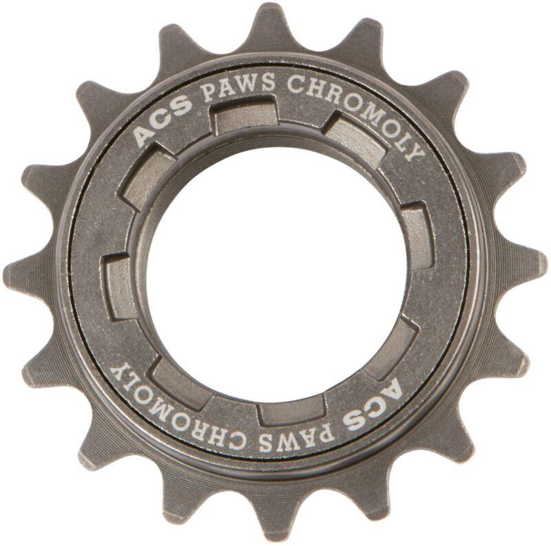 ACS PAWS 16T freewheel BMX Chromoly, gray, NOS bagged