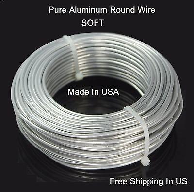 (Aluminum Round Wire ( DEAD SOFT) pure Bright Aluminum Craft Wire)