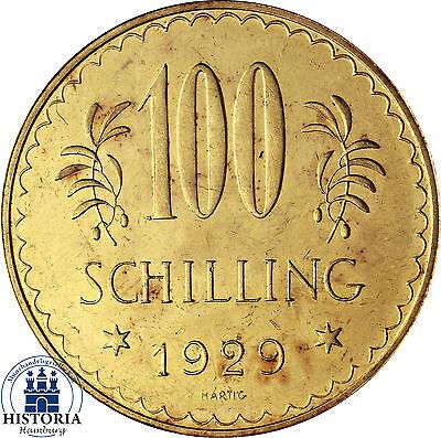Österreich 100 Schilling Gold 1929 Goldmünze I. Republik Münze in Münzkapsel