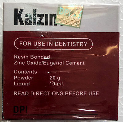 Kalzinol - Temporary Dental Non-resin Filling Cement Zinc Oxide Eugenol Base Wh
