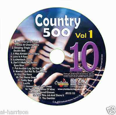 KARAOKE CHARTBUSTER CD+G COUNTRY 500 CB8532 VOL.1 DISC # 10