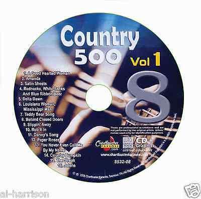 Karaoke Chartbuster Cdg Country 500 Vol 1 Disc Cb8532   8